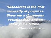 Discontent Thomas Edison Quote