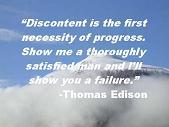 Discontent Thomas Edison Quote